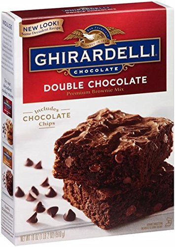 Ghirardelli Double Chocolate Brownie Mix, 18-Ounce Boxes (Pack of 6)