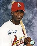 Signed Edgar Renteria Picture - W Bat 8x10 - Autographed MLB Photos
