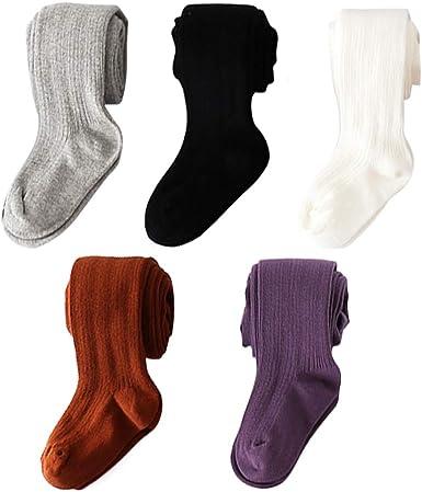 vanberfia Baby Toddler Girls Cable Knit Cotton Tights Pantyhose Leggings Stocking Pants