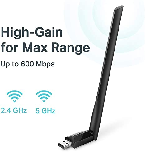 TP-Link AC600 T2UH High Gain Dual Band USB Wireless WiFi Network Adapter