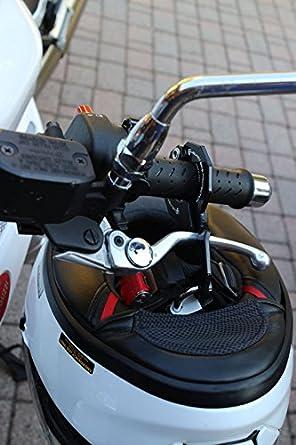 Schwarz Abus Motorrad und Helm XL mit Schloss kombiniert
