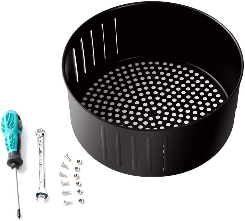 Air Fryer Replacement Basket 3.7QT For Power Gowise USA Air Fryer and All Air Fryer Oven, Air fryer Accessories, Non-Stick Fry Basket, Dishwasher Safe