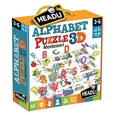 Headu Montessori Alphabet Puzzle 3d
