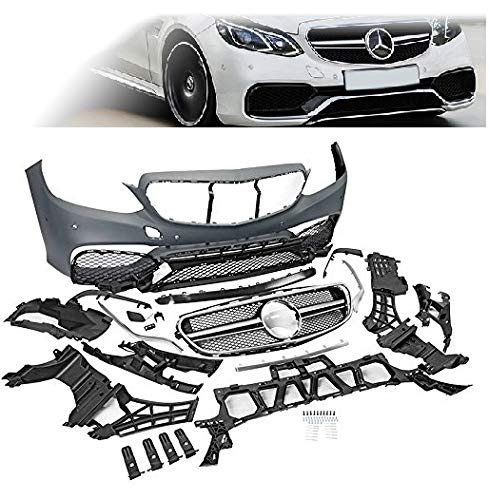 Compatible with Mercedes Benz MB W212 S212 14 15 16 E Class Replacement for Front Bumper Body Kit E63 AMG Style Grille 2014 2015 2016 Brand] EAX