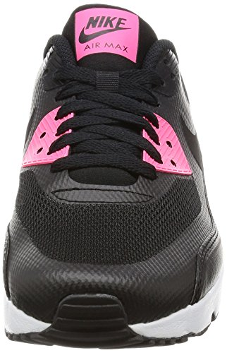 Nike Jeugd Air Max 90 Ultra 2,0 Mesh Trainers Zwart / Zwart-racer Pink-wit