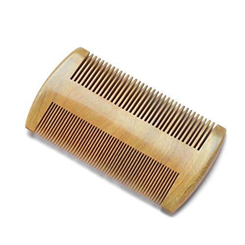 Peigne à barbe en bois naturel. Couleur bois naturel. Dents fines et standards. Toilettage pour hommes by RIVENBERT