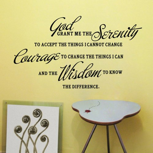 GOD GRANT ME THE SERENITY PRAYER BIBLE Art Quote Vinyl Wall Stickers Decal Decor