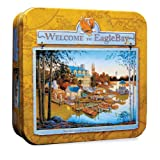 Jigsaw Puzzle Collectible Tin 1000 Pieces 19.25X26.75-Scenic Route-Lighthouse Island Masterpieces
