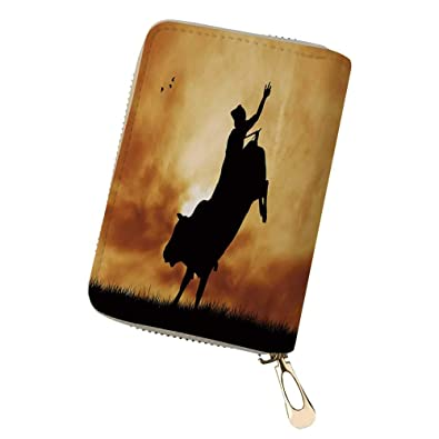 2195c121bd96 Amazon.com: Credit Card Holder Wallets Bull rider au couch for ...