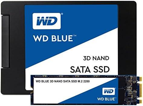 Western Digital 1TB WD Blue three-D NAND Internal PC SSD - SATA III 6 Gb/s, M.2 2280, Up to 560 MB/s - WDS100T2B0B