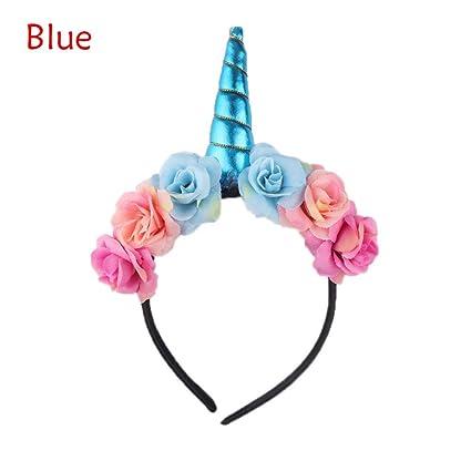 Magical Unicorn Horn Head Party Kid Hair Headband Fancy Dress Cosplay Decorative
