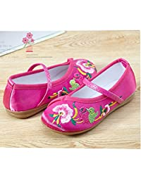 C'est Moi Kid Shoes Embroidery Dance Art Old Beijing Girl Shoes Chinese Style