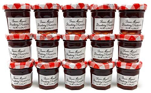 Bonne Maman Strawberry Preserve Mini Jars - 30 pcs x 1 oz - Kosher Jelly Jam