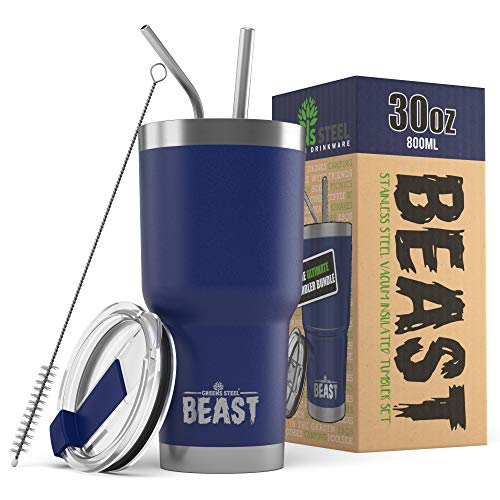 BEAST 30oz Royal Blue Tumbler - Stainless Steel Vacuum Insulated Coffee Cup Double Wall