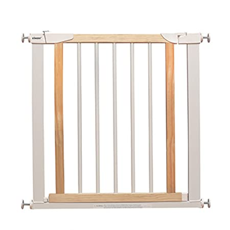 White Wooden Baby Gate For Doors Extension Safety 1st Pressure Fit