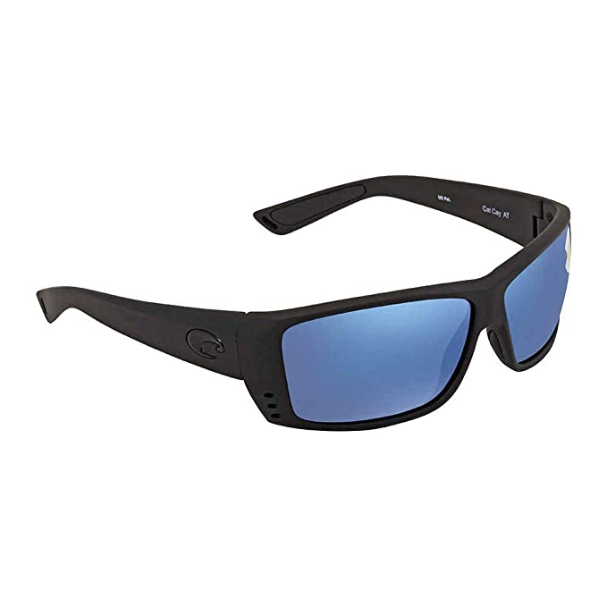 Amazon.com: Costa Cat Cay anteojos de sol, negro, 60.9 mm ...