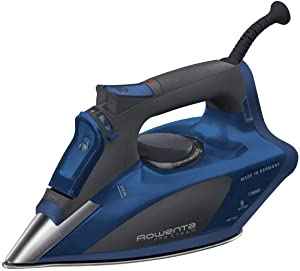 Rowenta DW5192 Pro Steam Iron Stainless Steel Soleplate with Auto-Off, 1750Watt, 400-Hole (Deep Blue)