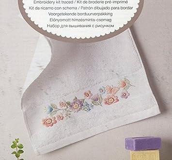 Rico diseño, diseño de Flores de Toalla de Invitados, 100% algodón: Amazon.es: Hogar
