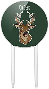 GRAPHICS & MORE Acrylic Oh Deer Dear Funny Cake Topper Party Decoration for Wedding Anniversary Birthday Graduation