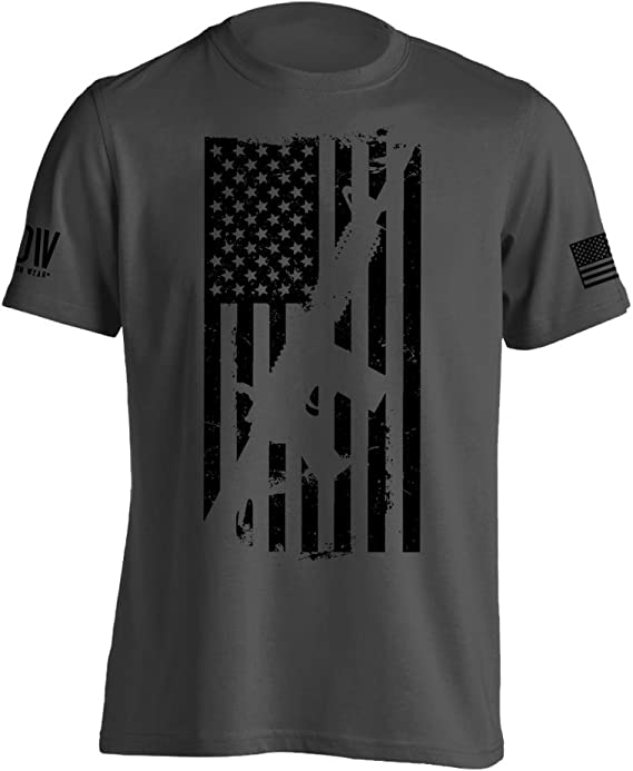 Dion Wear AR15 American Flag M4 T-Shirt