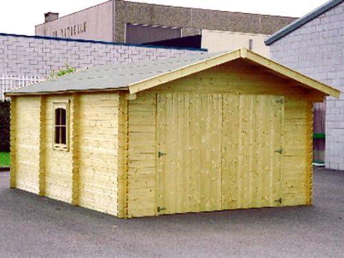 Escenario y jardín – Garaje madera – 24.14 M² – 4.03 x 5.99 x 2.66 M – 44 mm: Amazon.es: Jardín