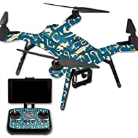 Skin For 3DR Solo Drone – Deco Fish | MightySkins Protective, Durable, and Unique Vinyl Decal wrap cover | Easy To Apply, Remove, and Change Styles | Made in the USA