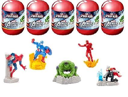 a44627155047 Amazon.com  Marvel Avengers Assemble Spiderman Capsule Surprise Toy ...