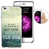 iPhone 6 Case,iPhone 6s Case, LAACO Beautiful Clear TPU Case Rubber Silicone Skin Cover for iPhone 6/6S - Retro THE SEA