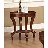 Coaster Home Furnishings End Table with Curved Legs Warm Brown For Sale