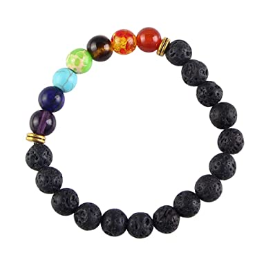 Amazon.com: 7 Chakra Mala Bead Wrap Bracelet Handmade Wire ...