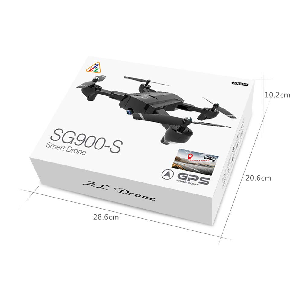 Lovewe SG900 RC Foldable Quadcopter 2.4GHz WIFI FPV GPS Fixed Point Drone for Kids and Beginners With 720P/1080P HD Camera, One Key Return (720P) by Lovewe_Drone (Image #4)