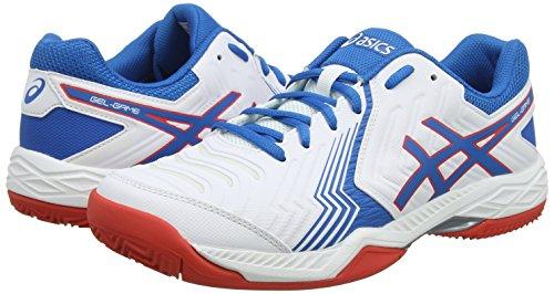 De En Gel Asics Chaussures Blanc 6 game 100 Terre Cuite Homme white Racer Pour Tennis Blue FRR5wqB