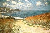 Path Through the Corn at Pourville Claude Monet Art Print by Claude Monet 24 x 36in