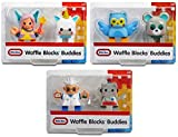 Little Tikes Waffle Blocks Buddies Bundle Pack of 3 Figure Sets (Fairy and Unicorn),(Owl and Bear), and (Scientist and Robot)