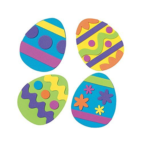 12 ~ Easter Egg Magnet Foam Craft Kits ~ Approx. 4