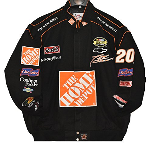 Tony Stewart Home Depot NASCAR Jacket Size - Stewart Twill Cotton Jacket Black