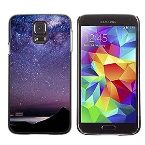 rígido protector delgado Shell Prima Delgada Casa Carcasa Funda Case Bandera Cover Armor para Samsung Galaxy S5 SM-G900 /Sky Stars Constellation Sea/ STRONG