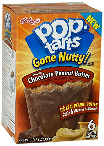 Kellogg's Pop-Tarts Gone Nutty Toaster Pastries - Chocolate Peanut Butter - 10.5 oz - 6 ct