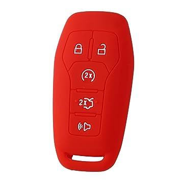 Amazon.com: XUHANG - Carcasa de silicona para llave de Ford ...