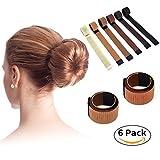 skinosm SKINOSM DIY Bun Maker Fashion Donut Bun Hairstyles Magic Hair Bun Maker Beauty Crown and Donut Hair Bun Maker Tool (6pcs)