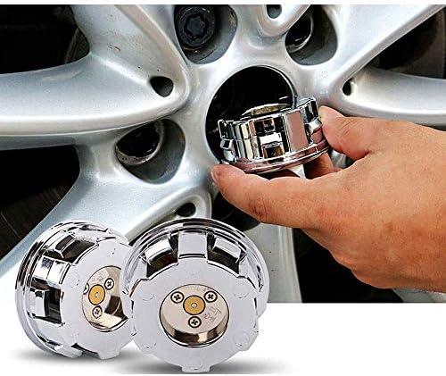 TGCF 4 pi/èces lumi/ère LED l/évitation magn/étique /étanche moyeu de Roue Couvercle de Capuchons de Centre pour Mercedes-Benz C200 E300l GLC Nouvelle Classe C Classe E