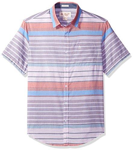 original-penguin-mens-short-sleeve-horizontal-stripe-slim-fit-woven-directoire-blue-medium