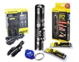 Nitecore P12 1000 Lumens Compact Tactical LED Flashlight, Two Rechargable Batteries and I2 Smart Charger, Lumentac Keychain Light Review