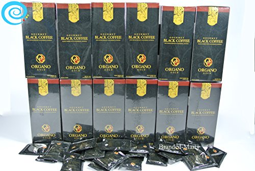 12 boxes Organo Gold Gourmet cafe BLACK coffee with organic Ganoderma (30 sachets per box) by Organo