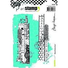 Carabelle Studio SA60244 A6 Stamp Set - Mixed Media Strips by Birgit Koopsen