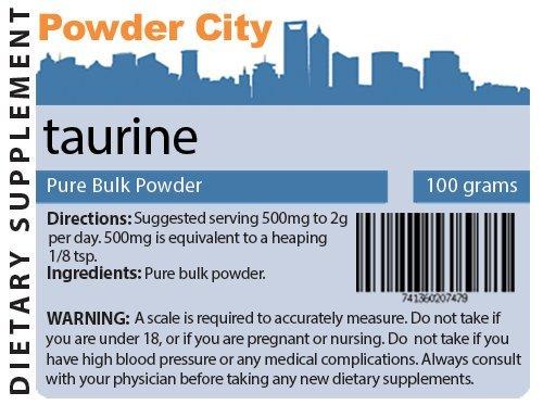 Supplément de taurine poudre (100 g)
