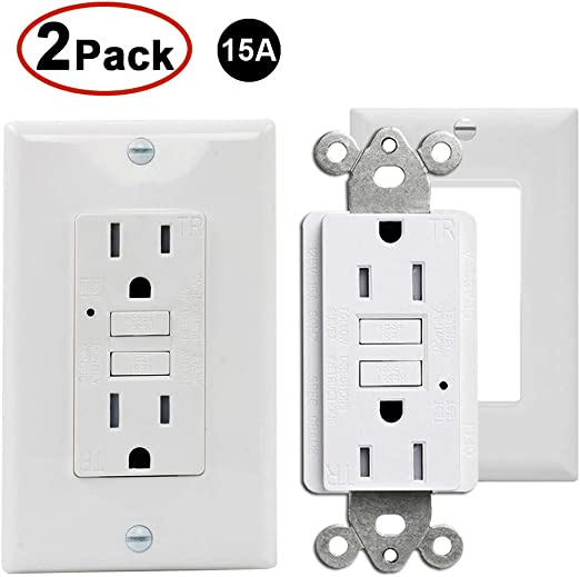 5 pc 15A Tamper Resistant TR GFCI Outlet Receptacle 15 Amp GRAY Child proof