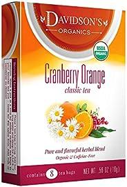 Davidson's Tea Cranberry Orange, 8-Count Tea Bags (Pack of