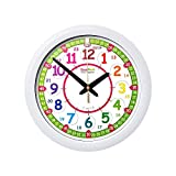 EasyRead Time Teacher Children's Wall Clock, showing 12 & 24 hour (digital) time. Learn to read digital time on an analogue clock, with 2-step teaching system. 12 inches diameter, age 5-12