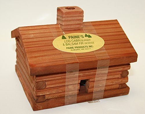 medium Log Cabin Cedar Incense Burner comes with 10 cedar logs